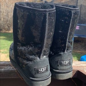 UGG Boots with black sequins